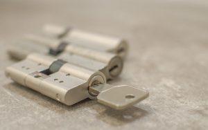 Key inside bare lock