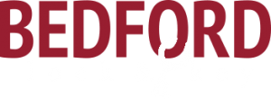 Bedford lock & key white logo