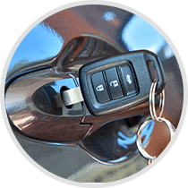 Automotive Key in Door handle