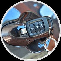 Automotive Key in Door handle