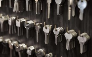 Wall of new residential keys