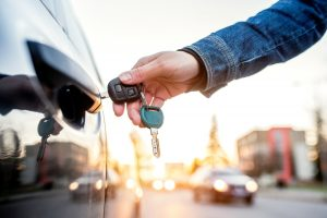Unlocking car door by hand