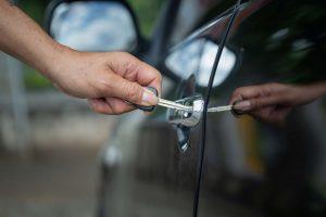 Unlocking car using key