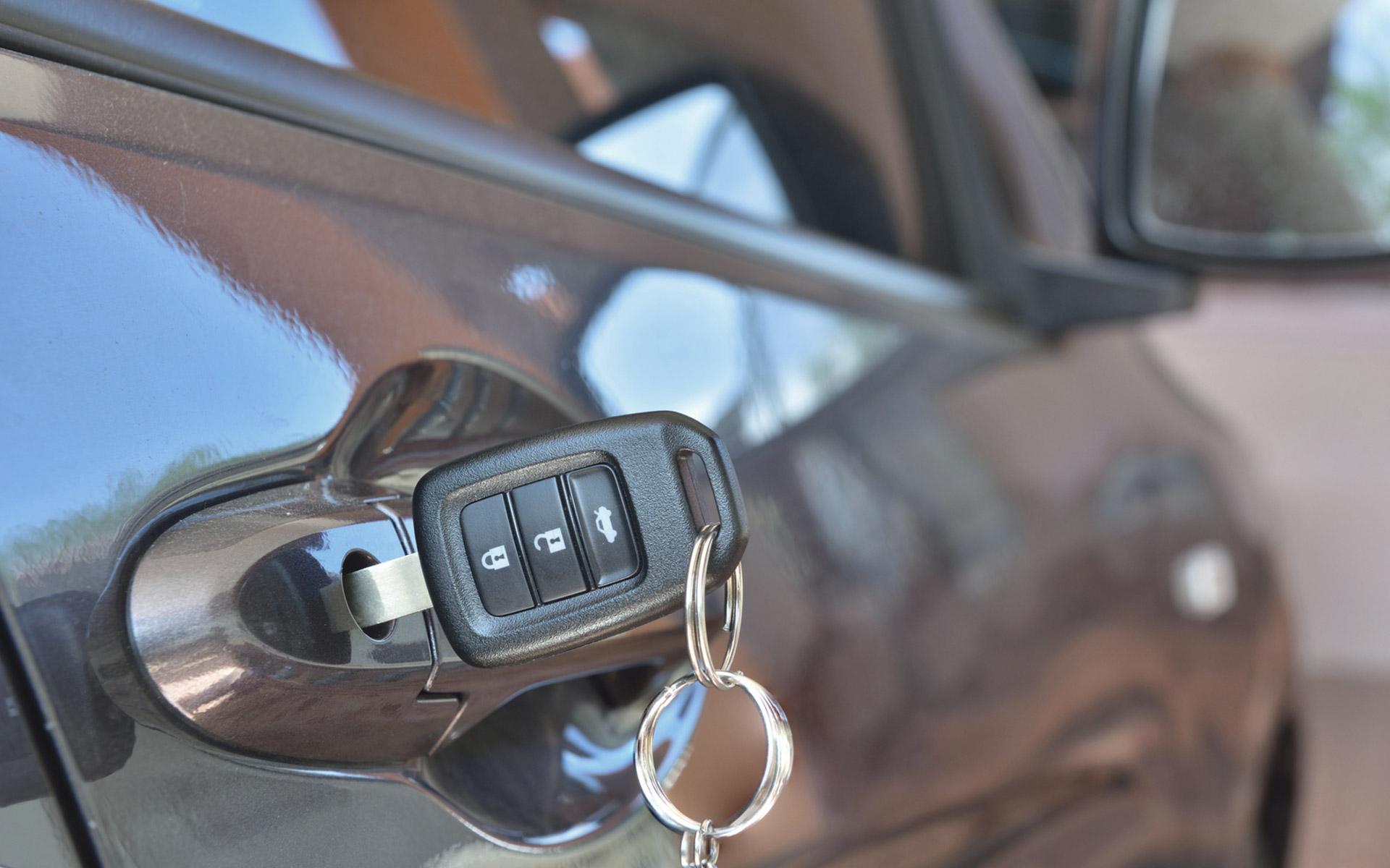 Automotive Key in car door