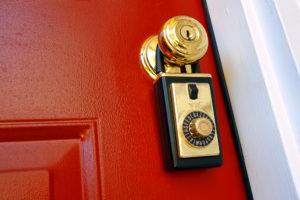 lockbox on door handle